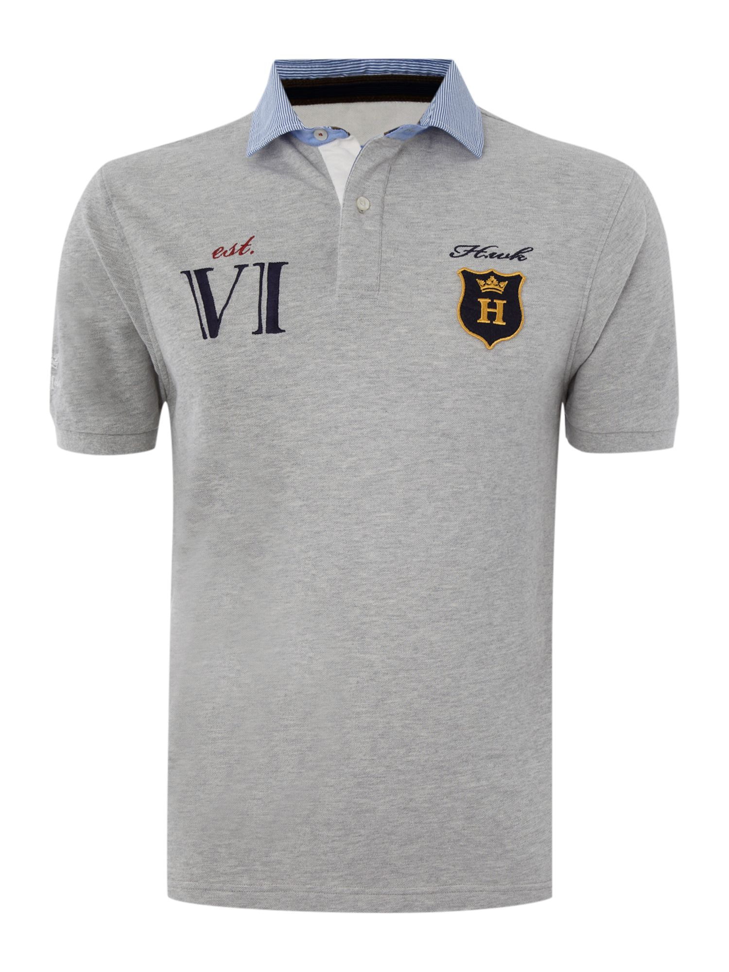 Colonial club short sleeved pique polo