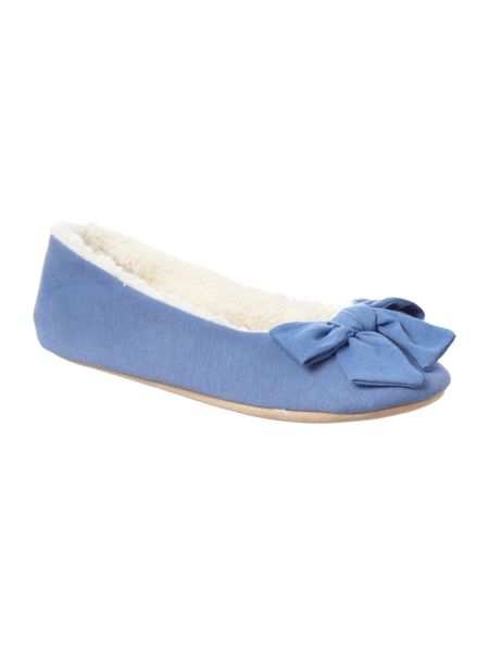 Linea Bow front slippers