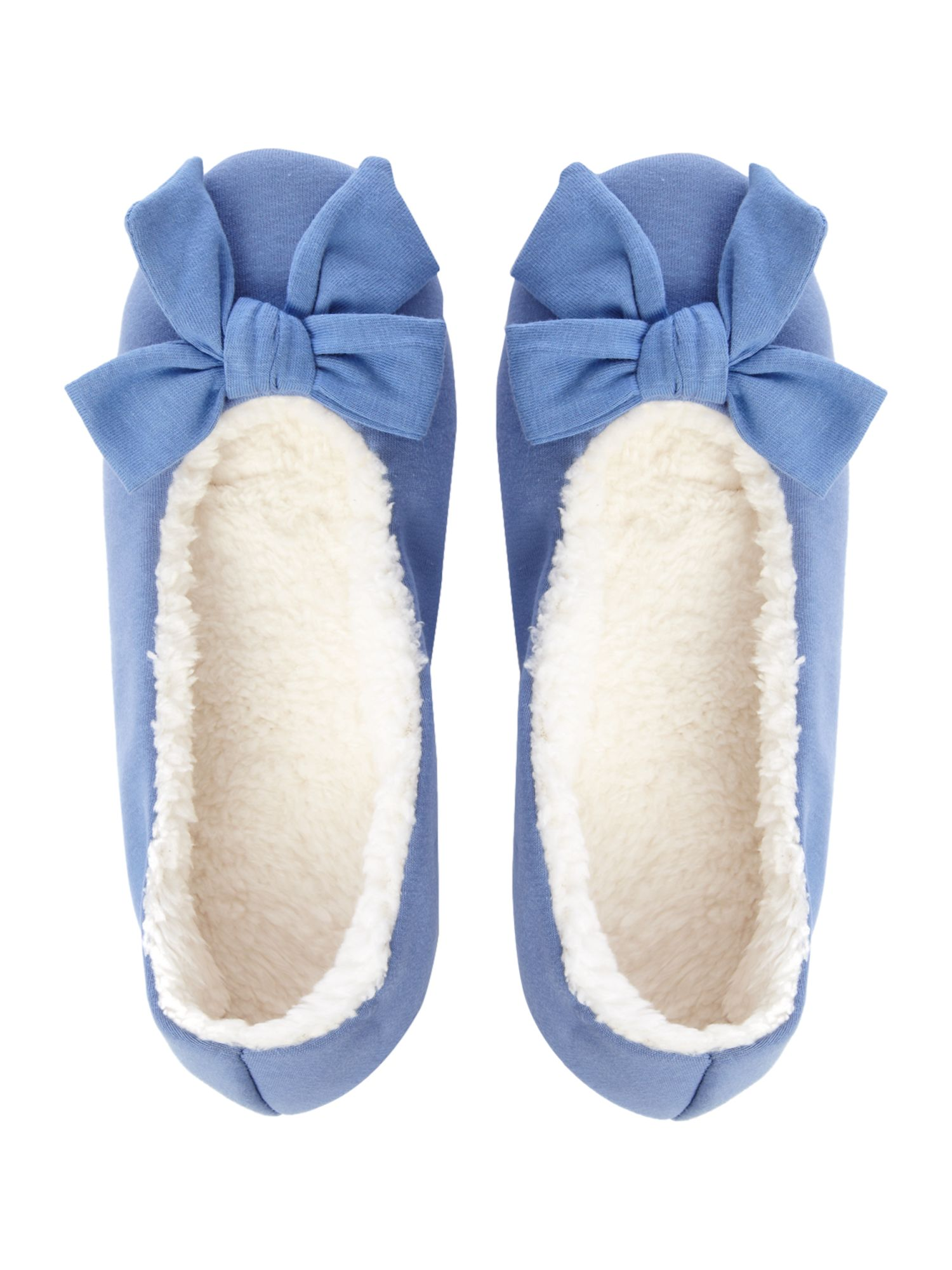 Bow front slippers
