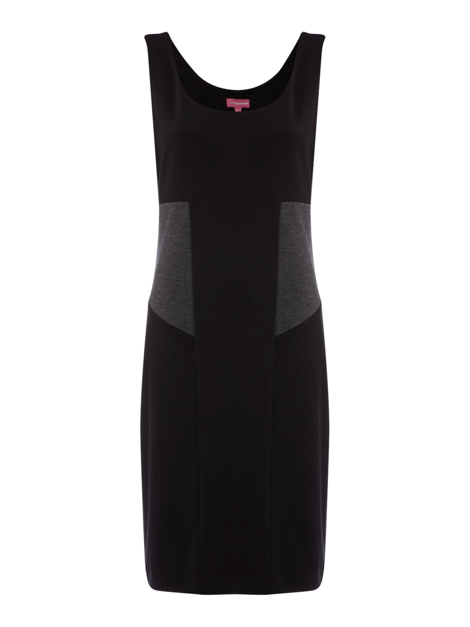 Ponte panel shift dress