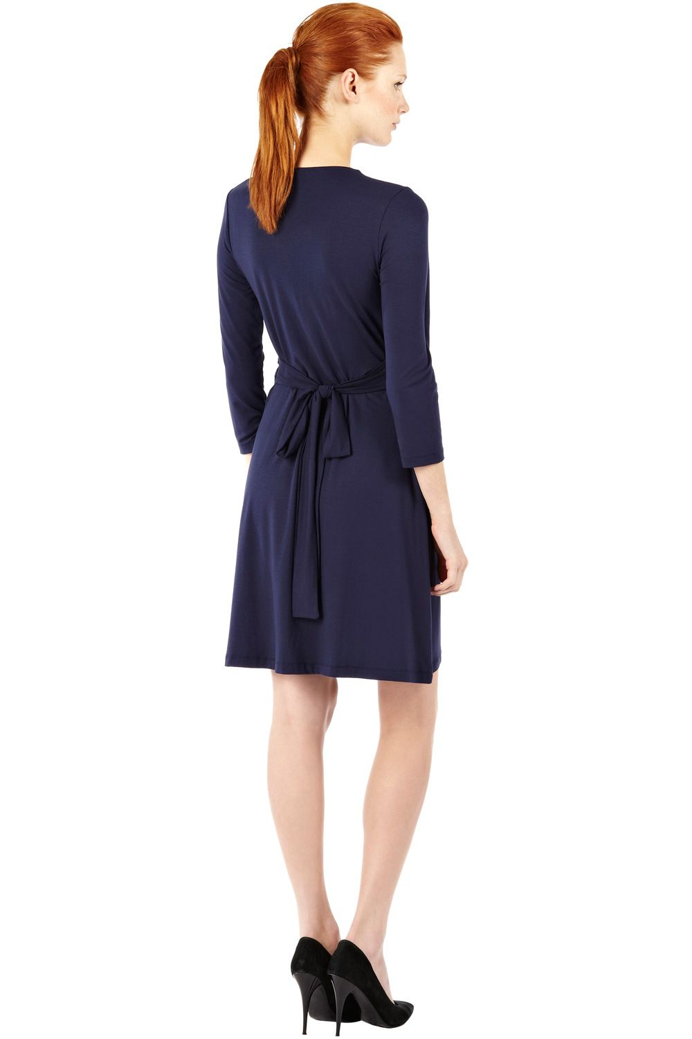 Wrap tie dress