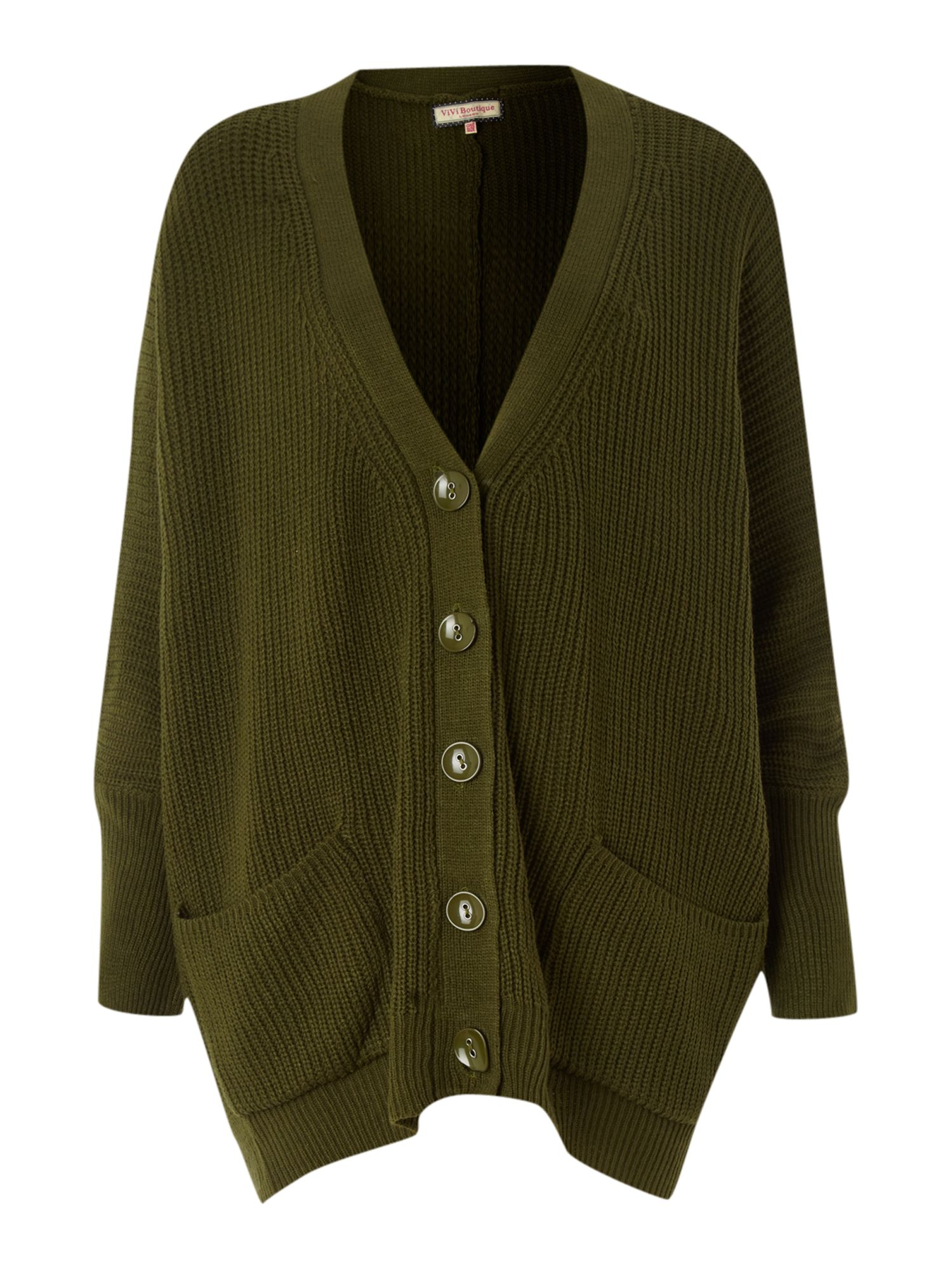 Women's Vivi Boutique Oversized pocket cardigan, Green