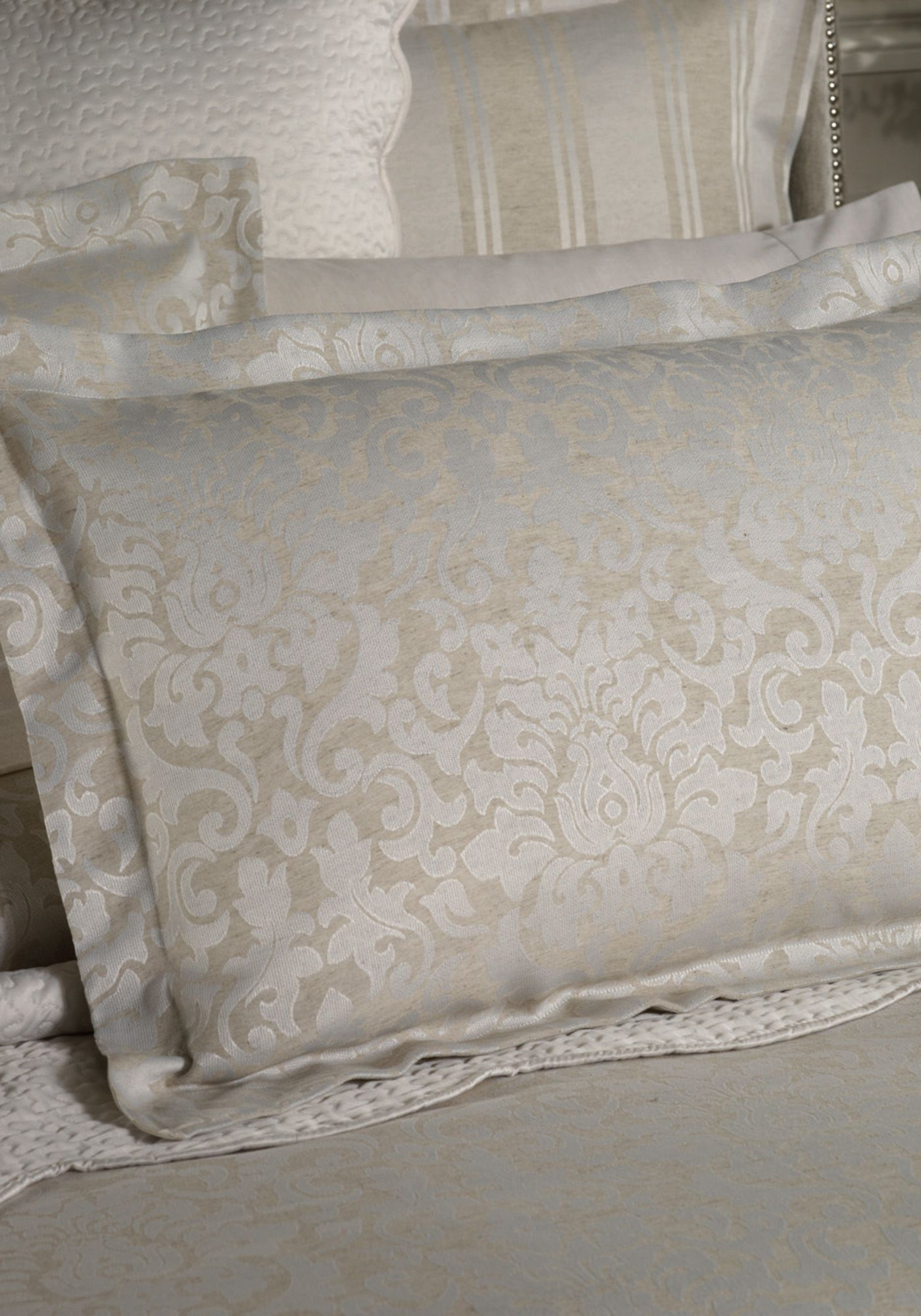 Fenimore oatmeal tailored pillowcase pair