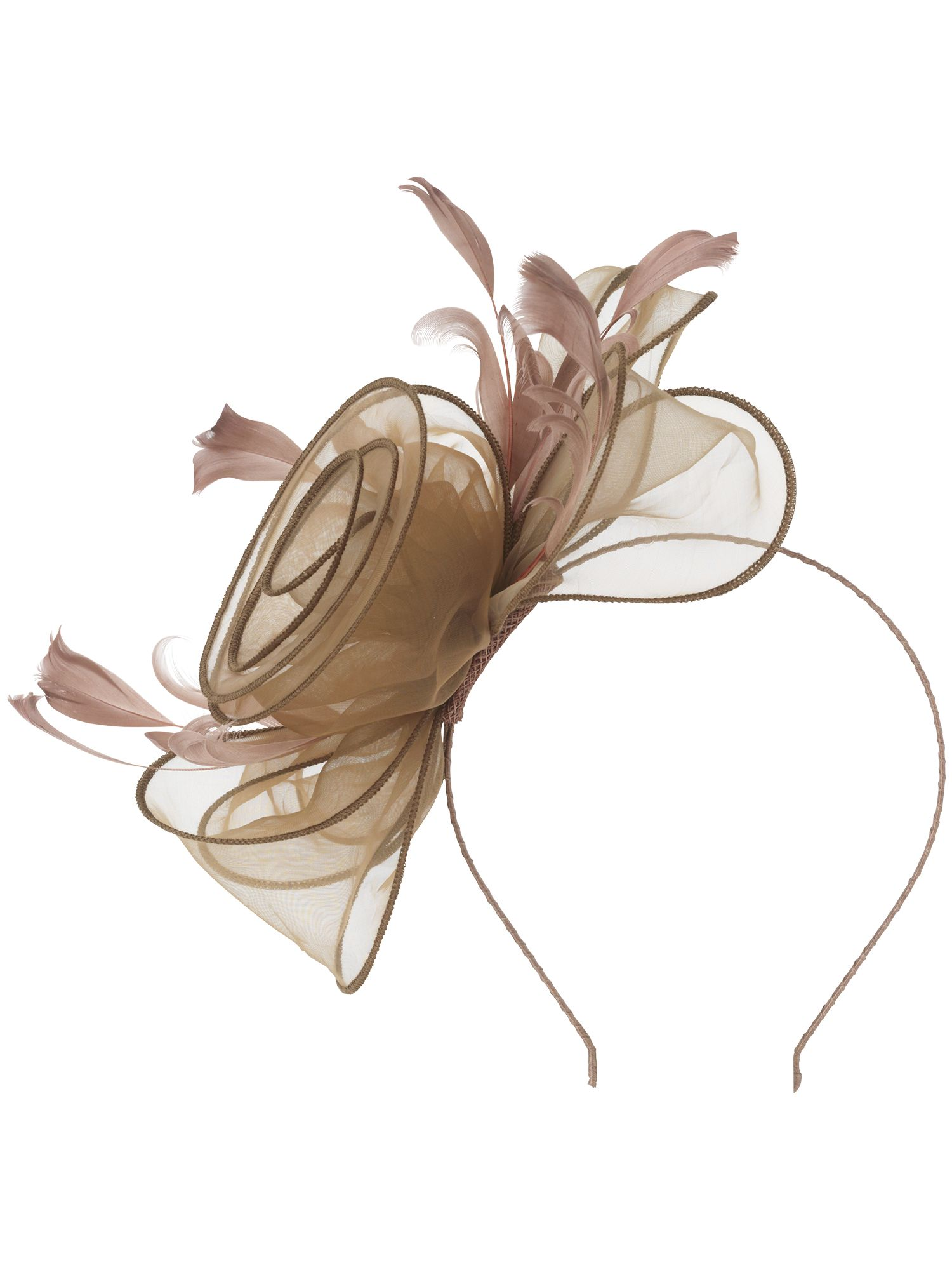 Organza rose fascinator