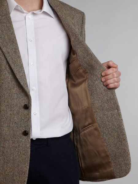 Harris Tweed Barva khaki fleck regular fit blazer