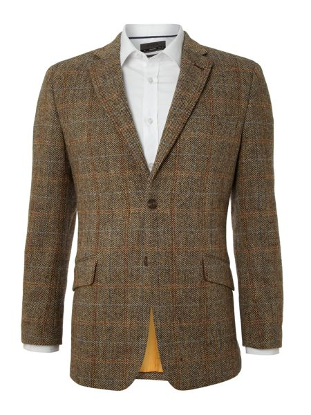 Buy our Slim fit green check British tweed jacket exclusively from Charles Tyrwhitt of Jermyn Street, London. Available for international delivery.