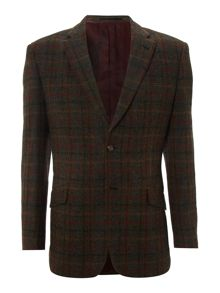 Angus large overcheck slim fit blazer