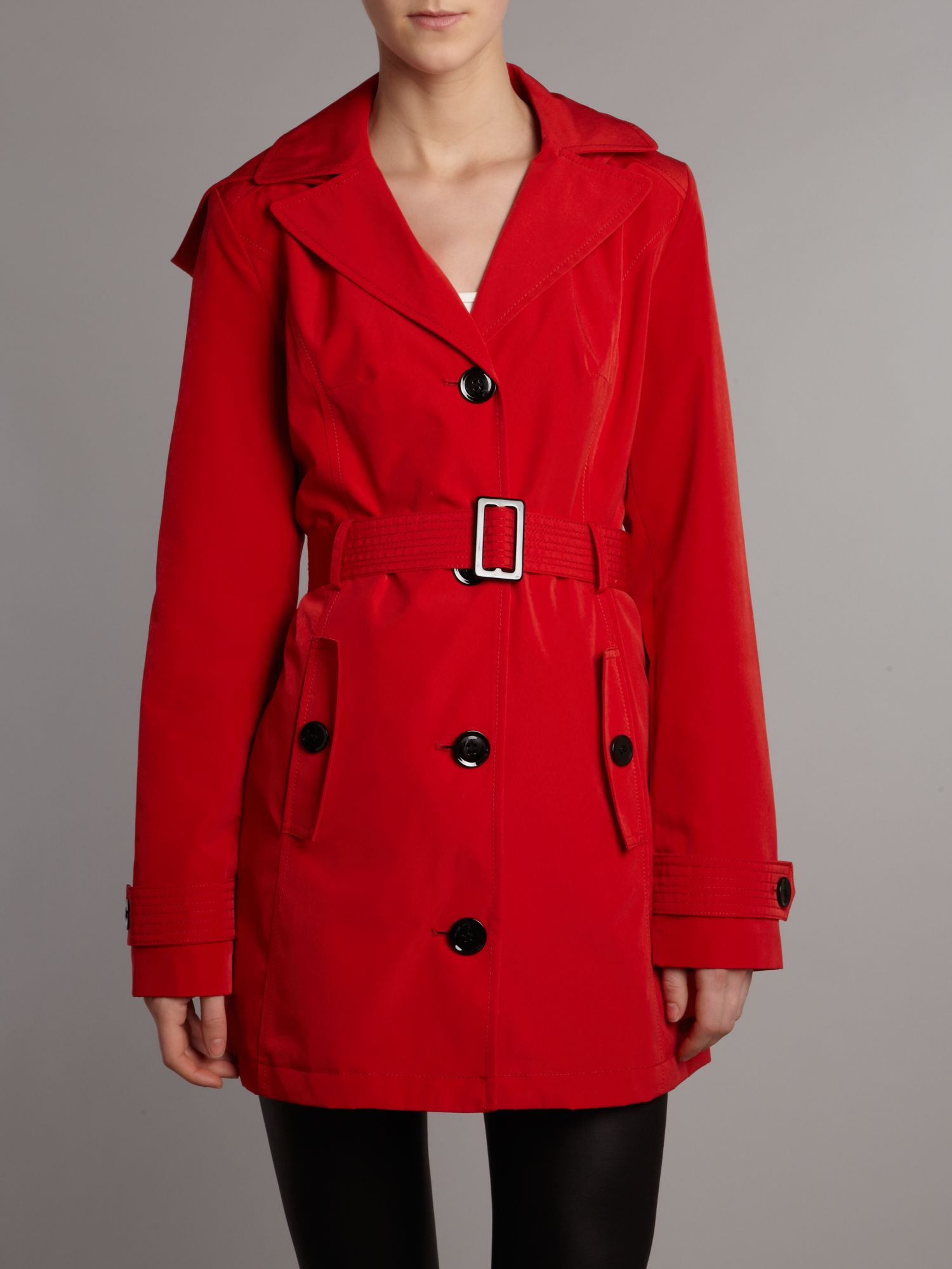 Belted hooded light trench