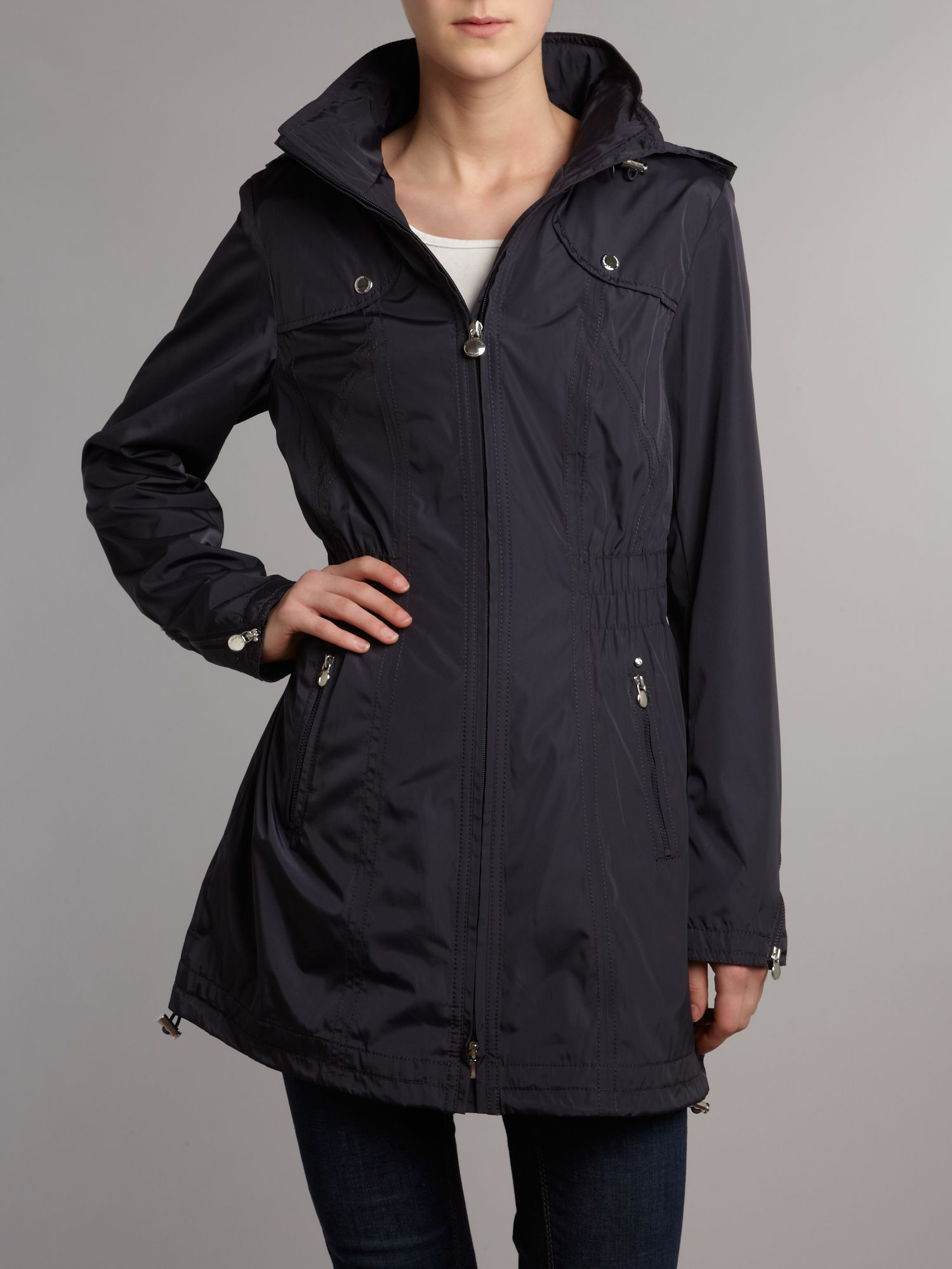 Pack away hooded jacket