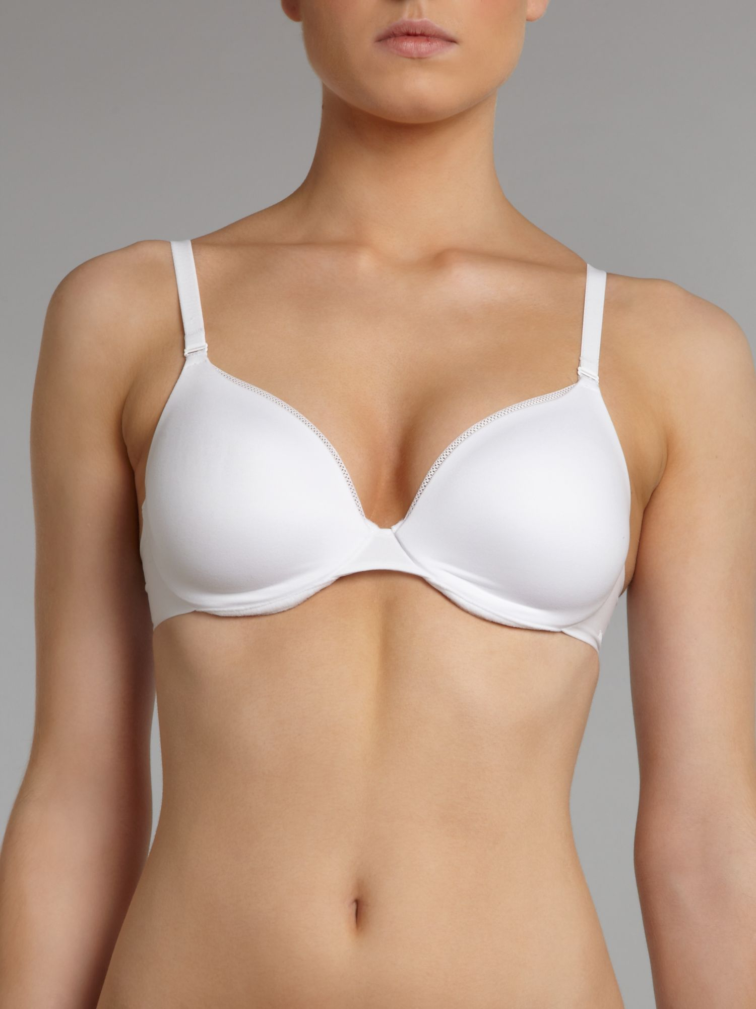 Body make up velvet wired half cup padded bra