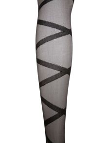 Criss cross tights.