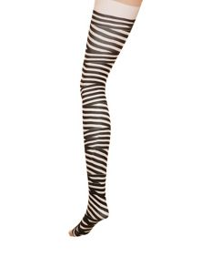 Zebra print tights.