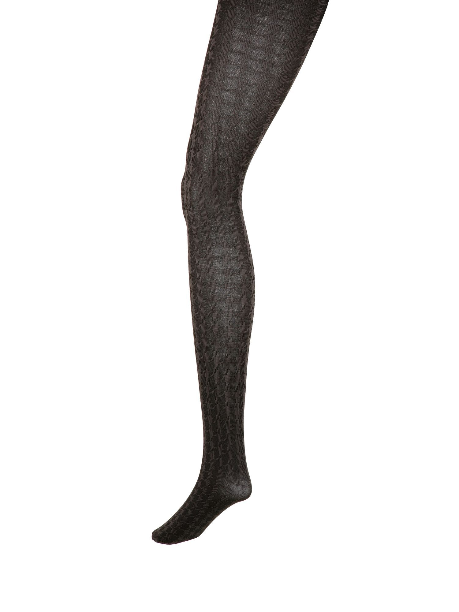 Dogtooth check tights.