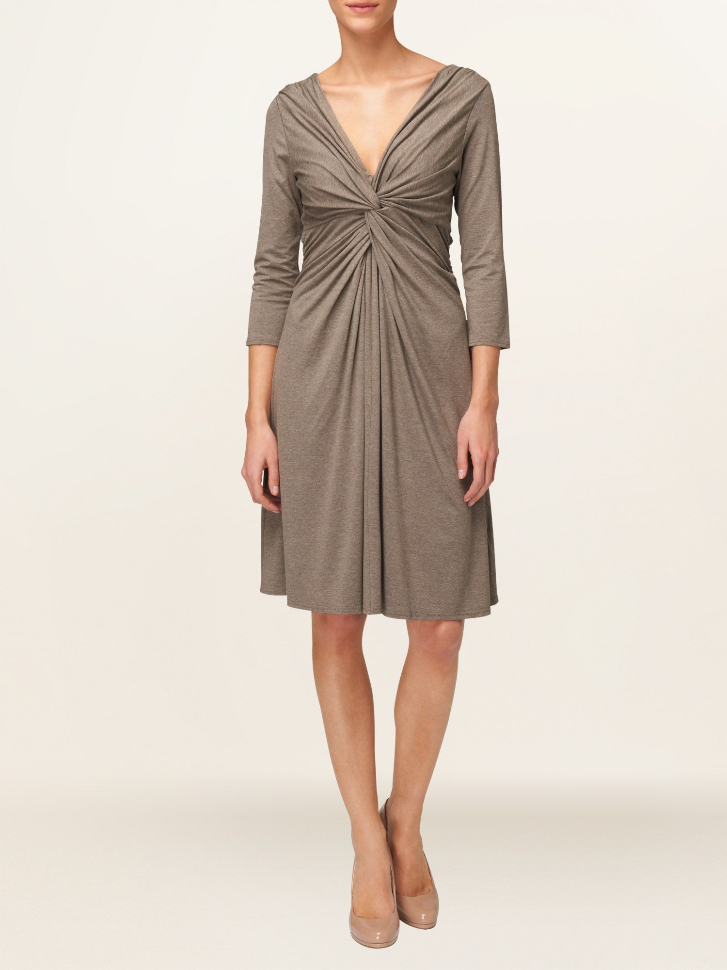 Josie twist front jersey dress