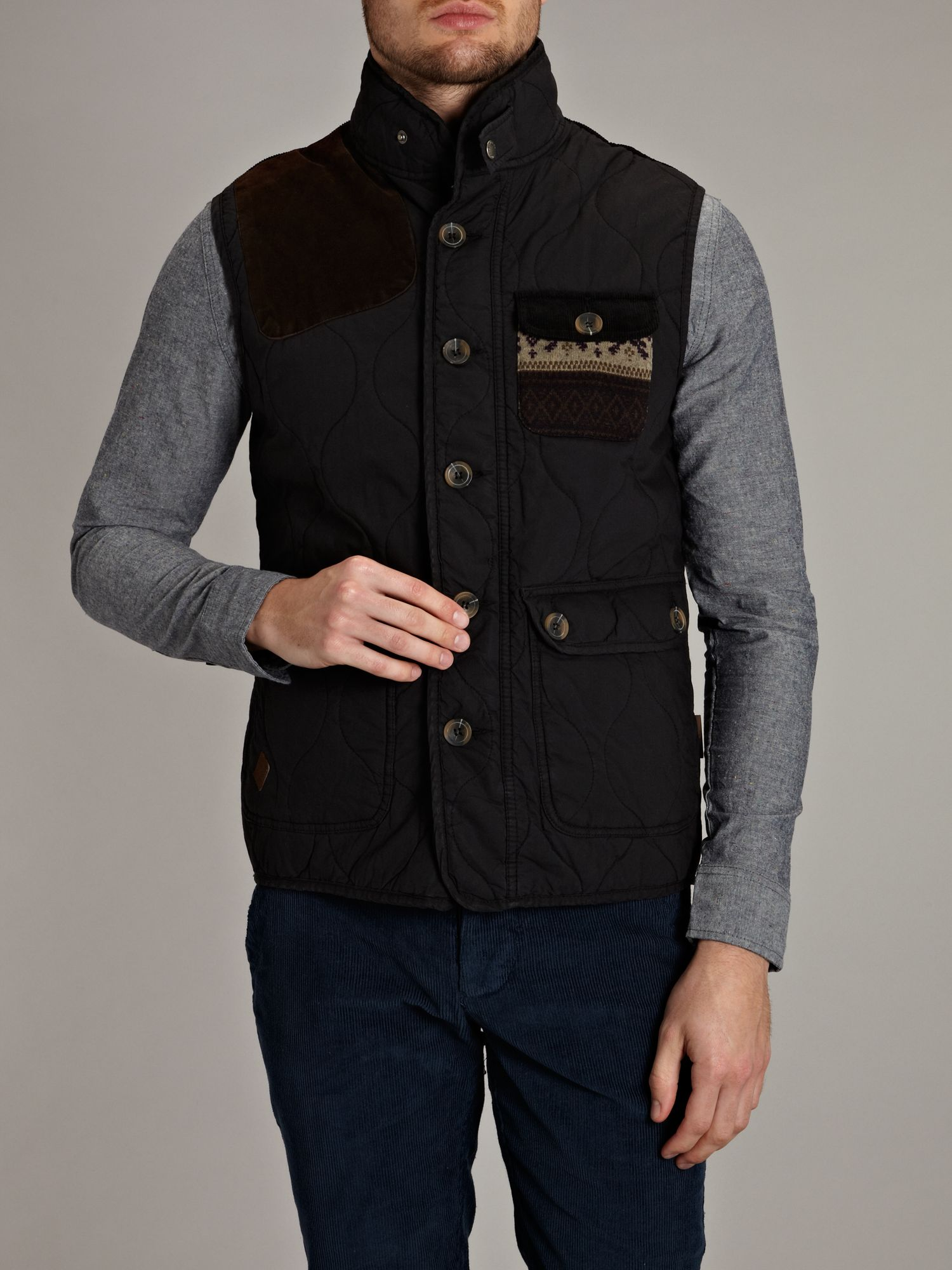 Button up gilet