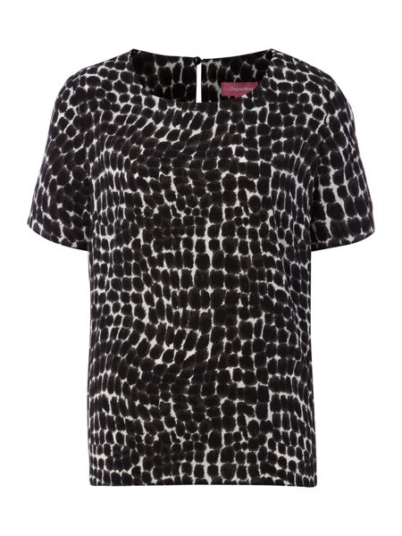 The Department S/l animal print woven tee