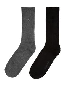Two pack rib boot sock