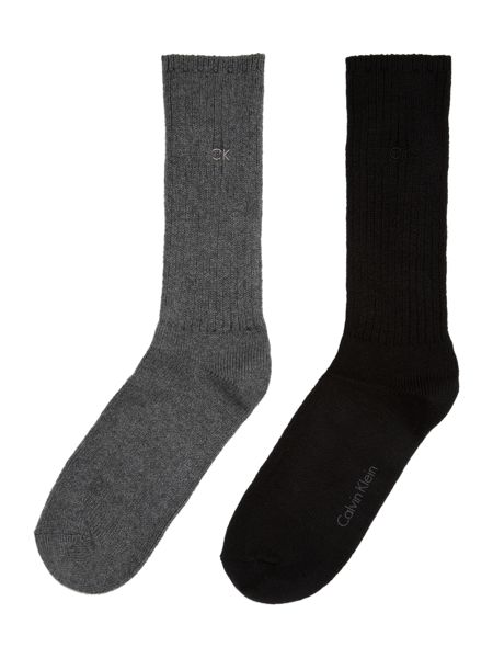 Calvin Klein Two pack rib boot sock
