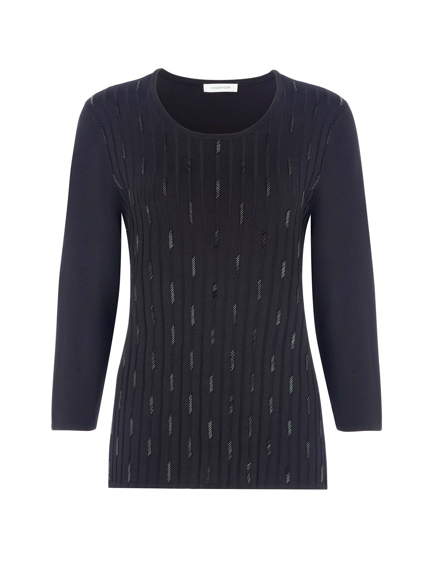 Black embellished jumper