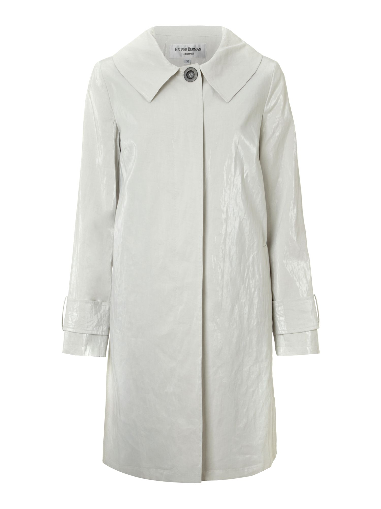 Concealed placket swing coat