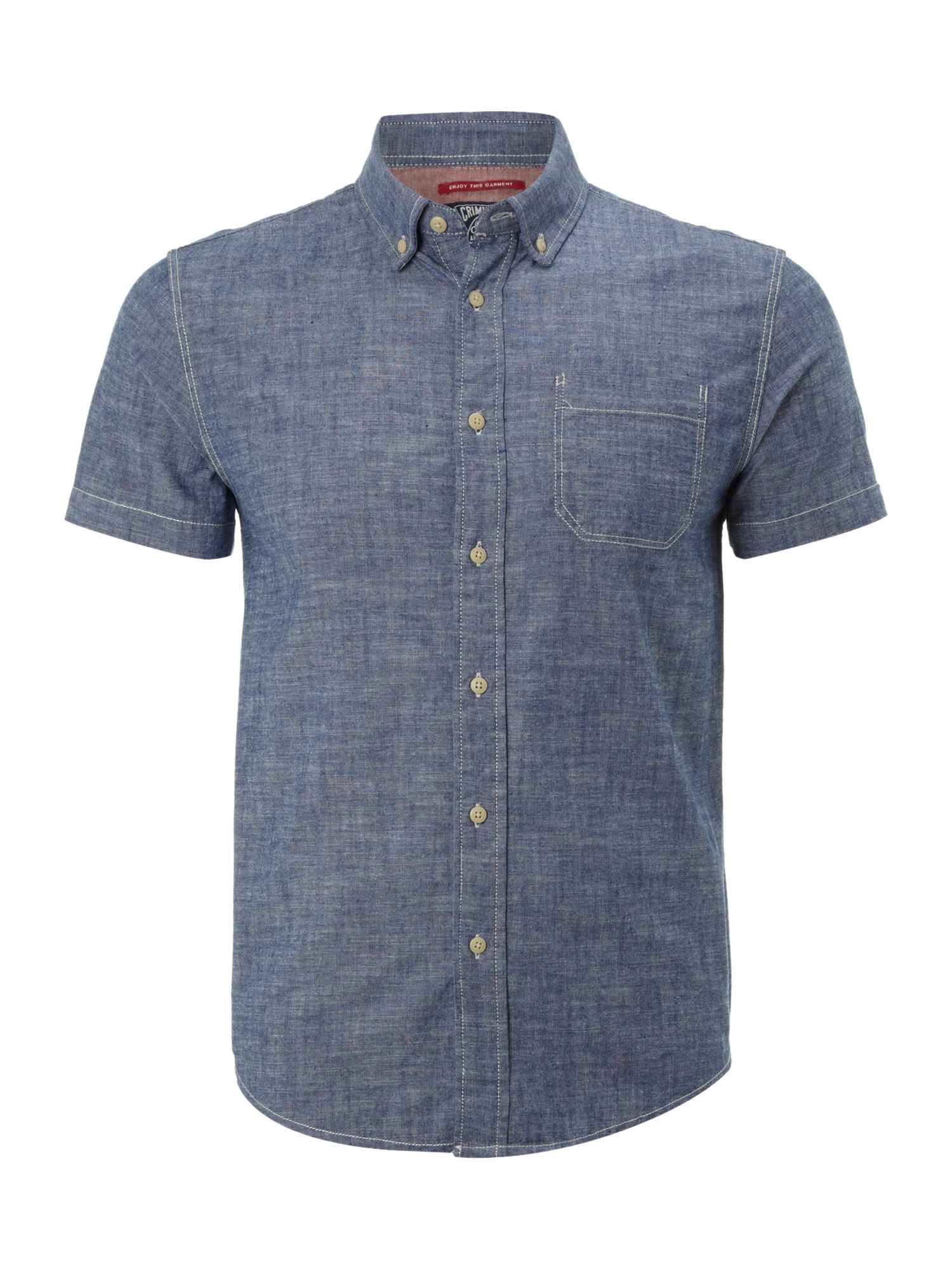 Short sleeved birchwood chambray
