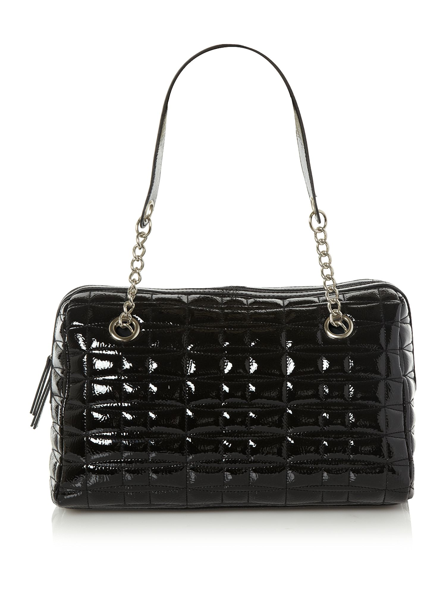 Quilted chain bowling bag