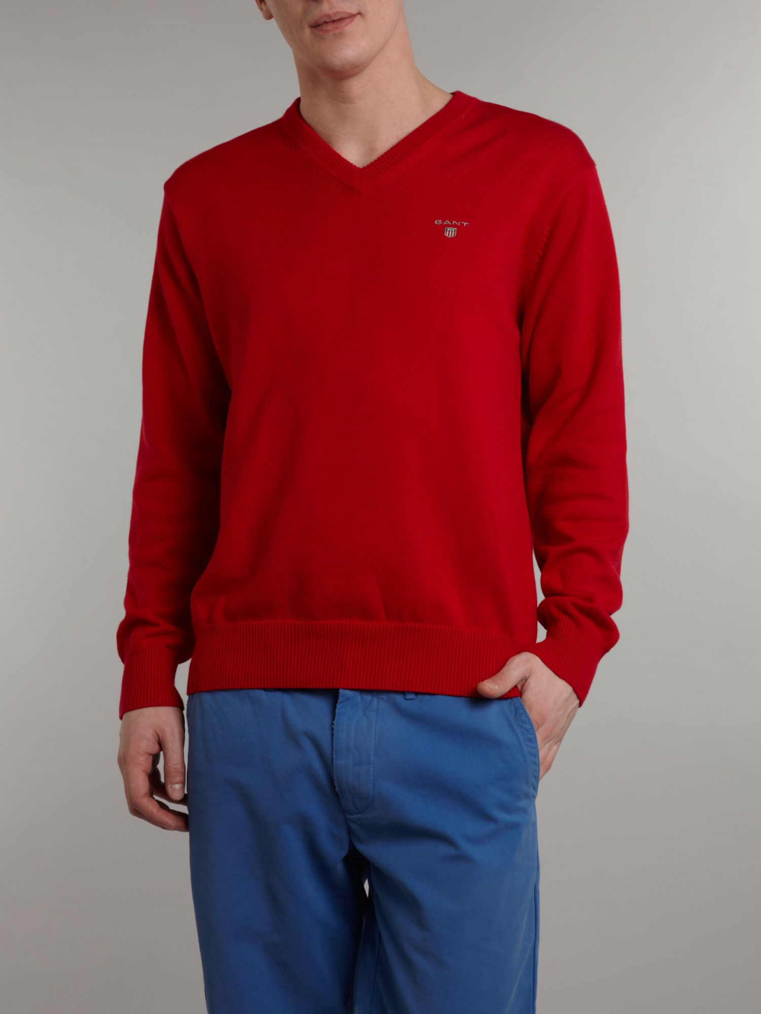 V neck cotton jumper