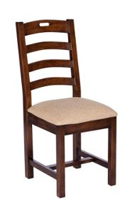 Newquay upholstered ladder back chair pair