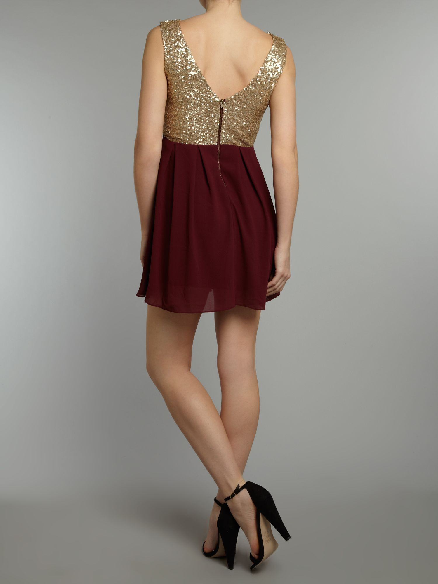 Sequin Sarah high low dress