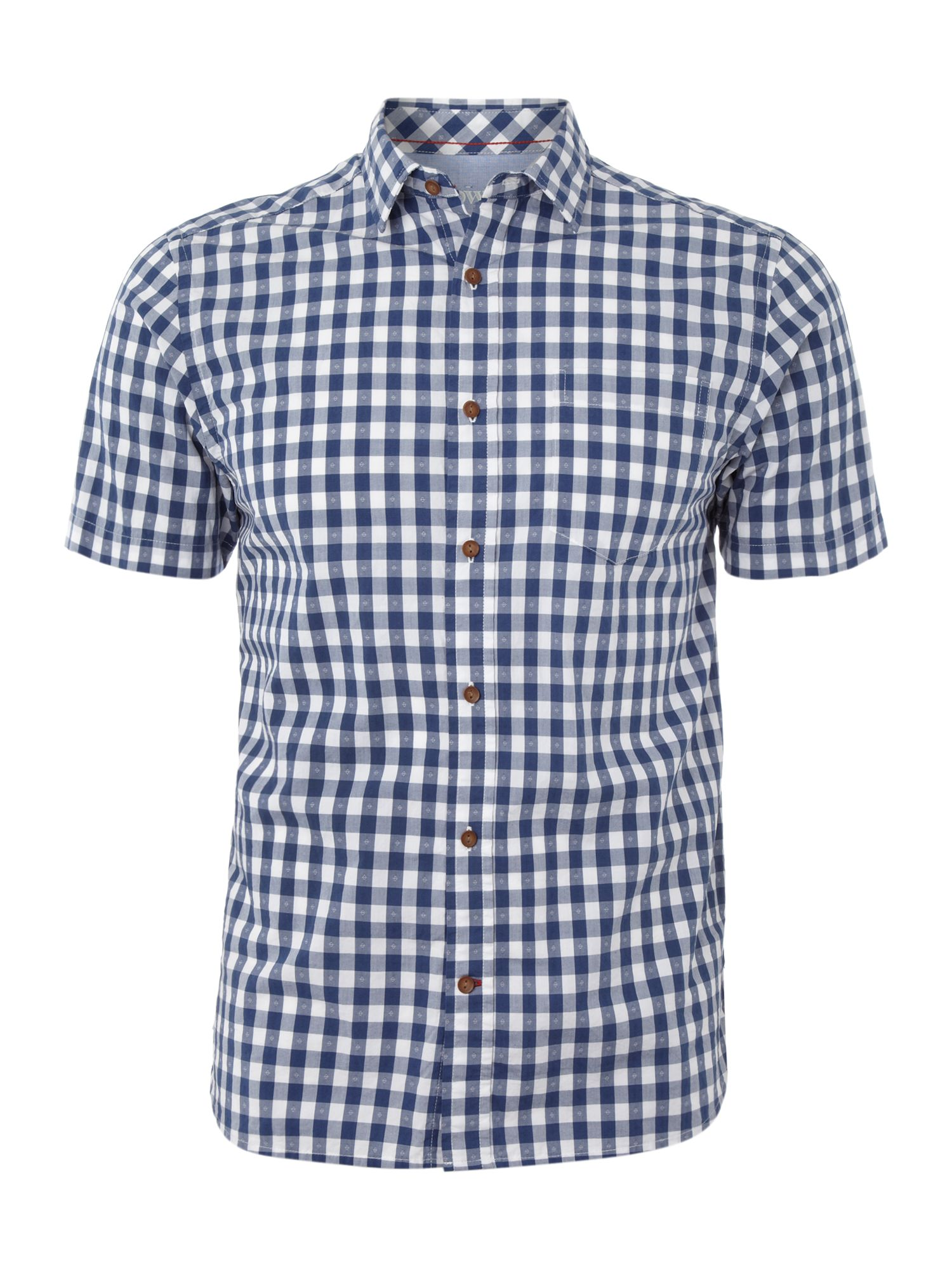 Short sleeved geary gingham shirt