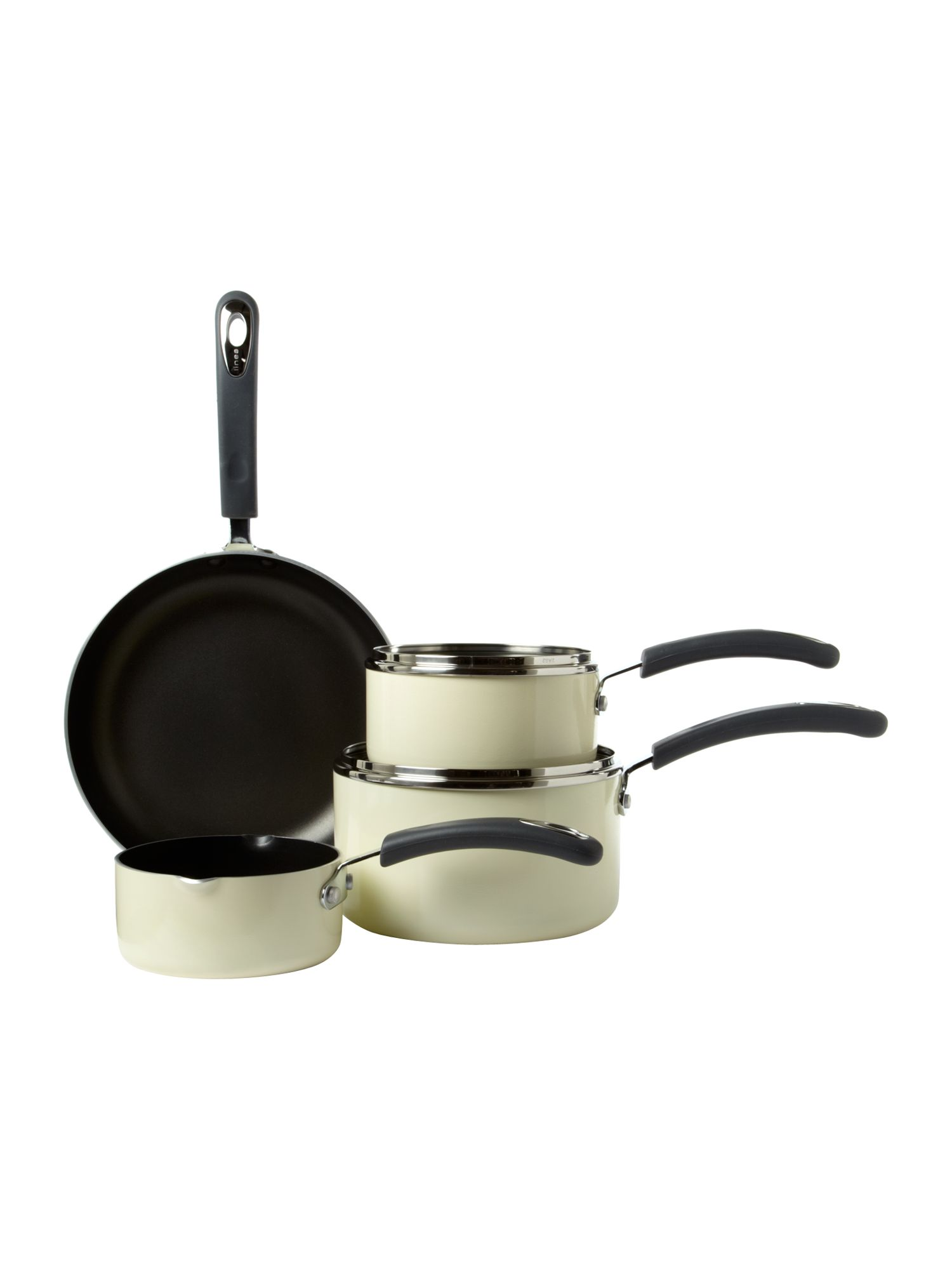 Cream Principle 4pc Pan Set