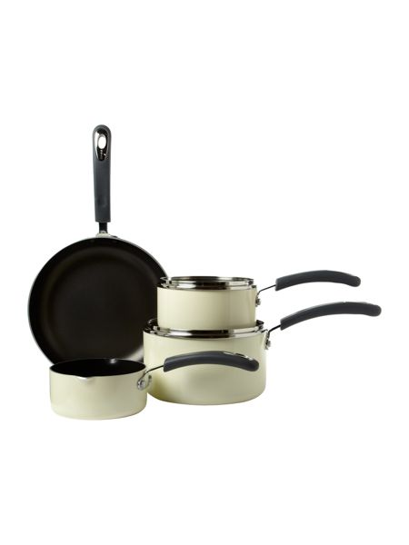 Linea Cream Principle 4pc Pan Set