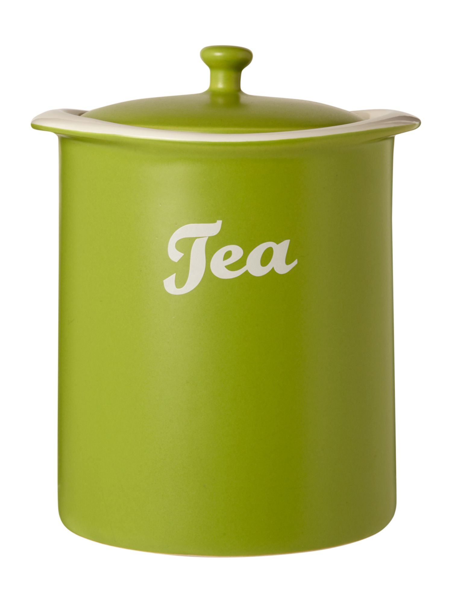 Curve Tea Jar, Lime