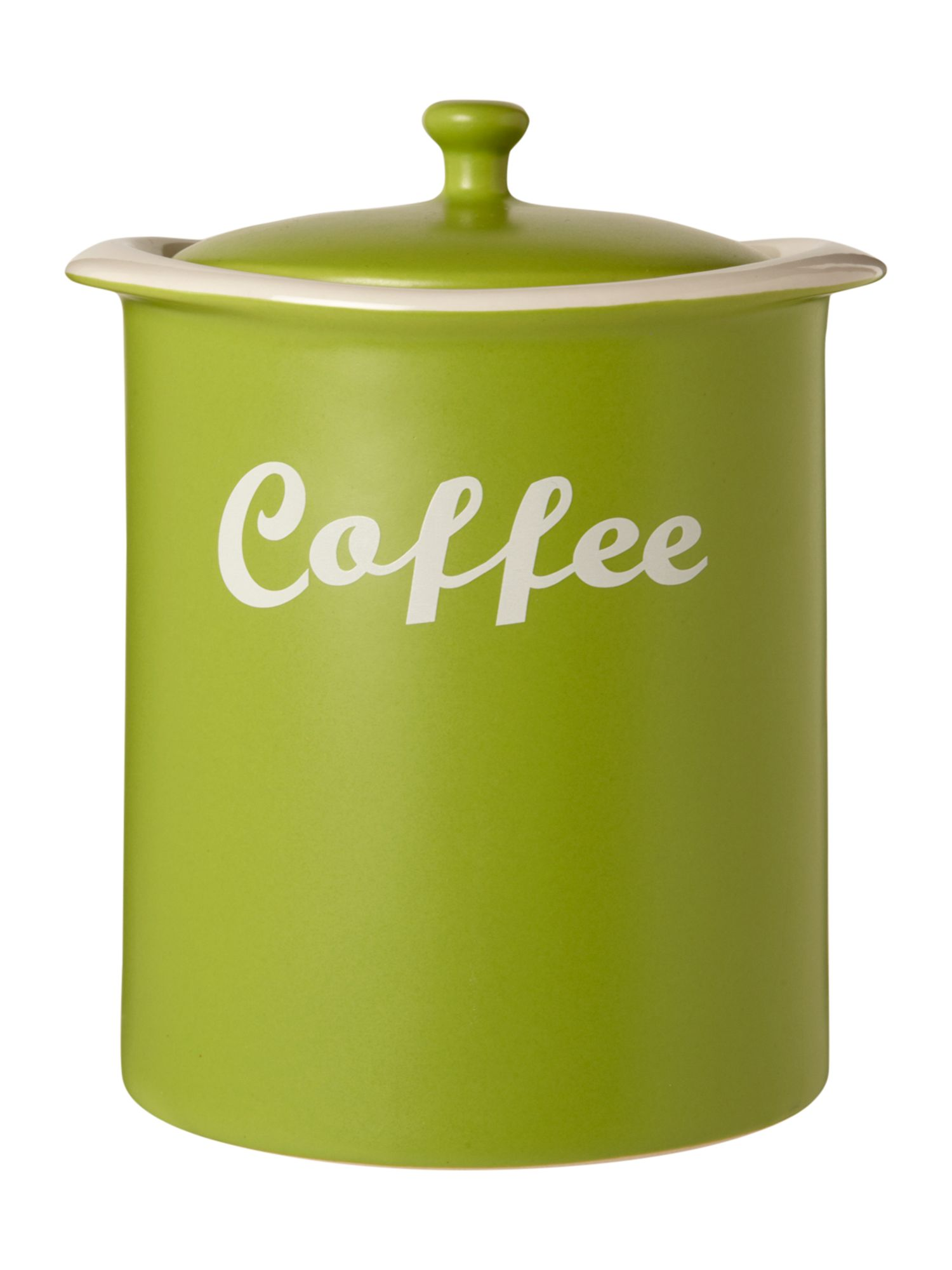 Curve Coffee Jar, Lime