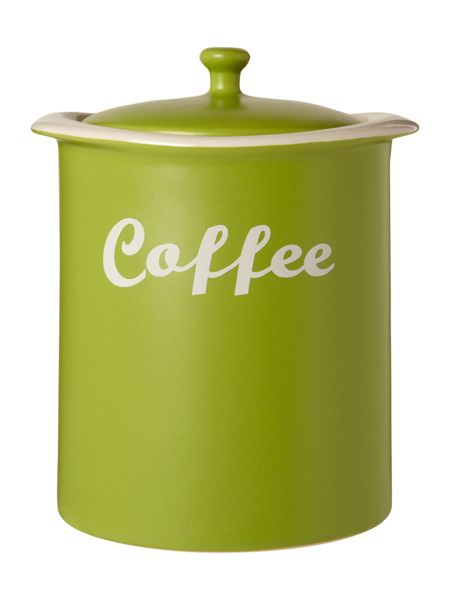Linea Curve Coffee Jar, Lime
