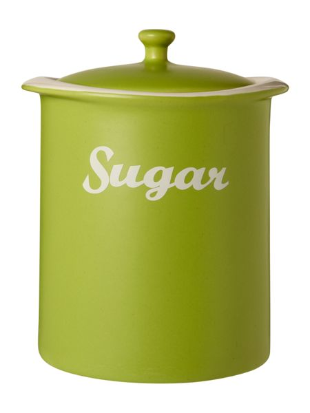Linea Curve Sugar Jar, Lime