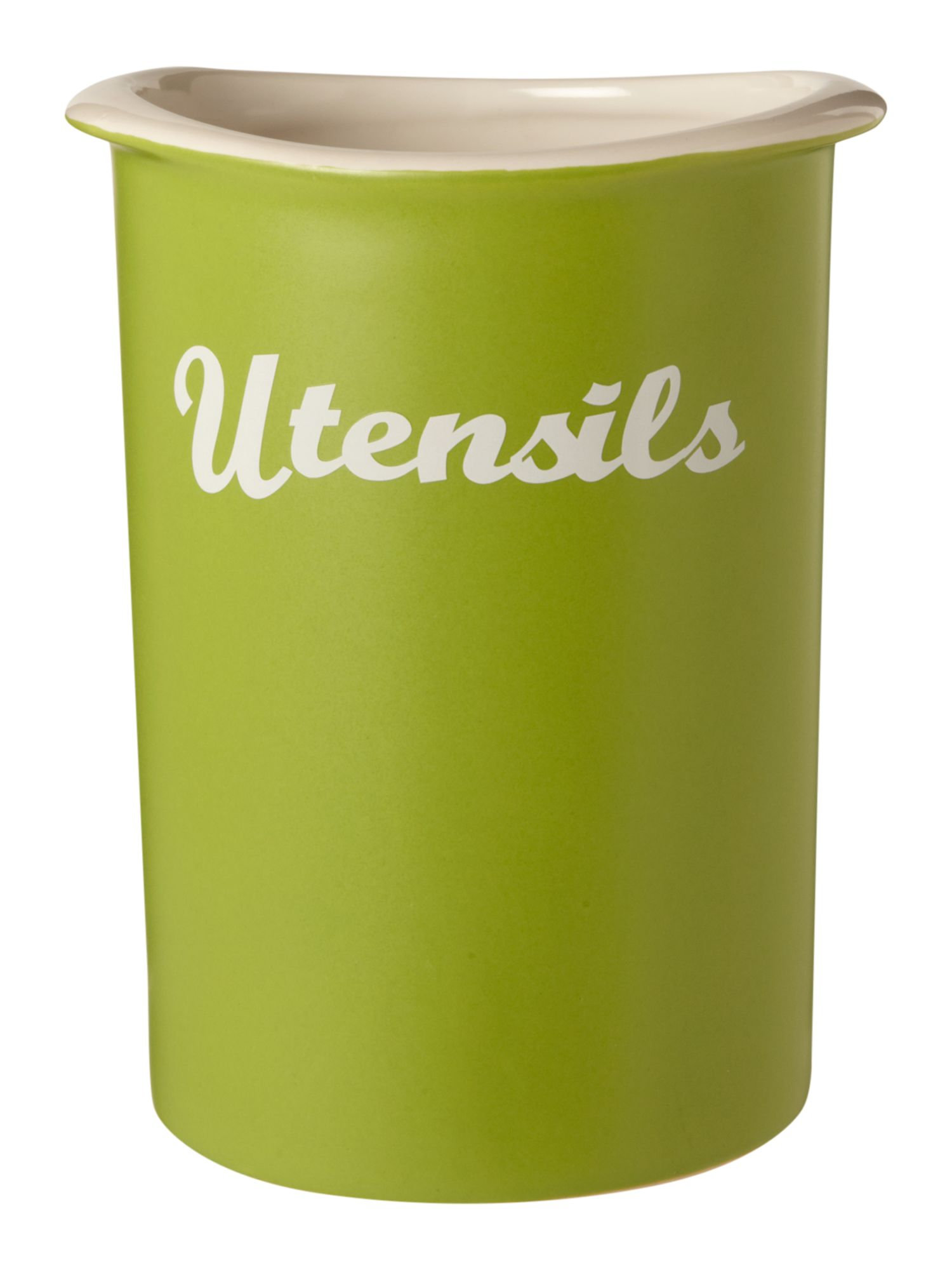 Curve Utensil Jar, Lime
