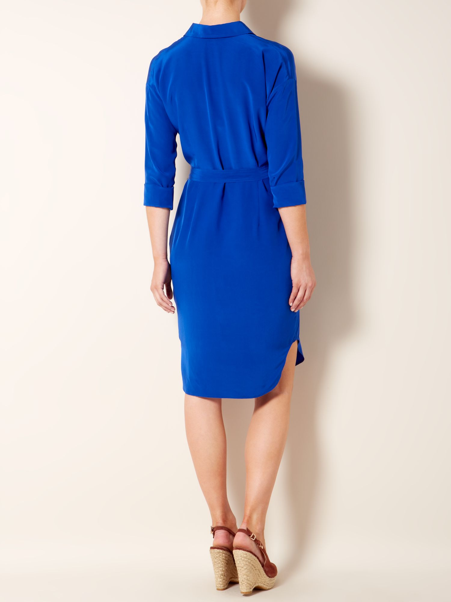 Crew neck colour block shift dress