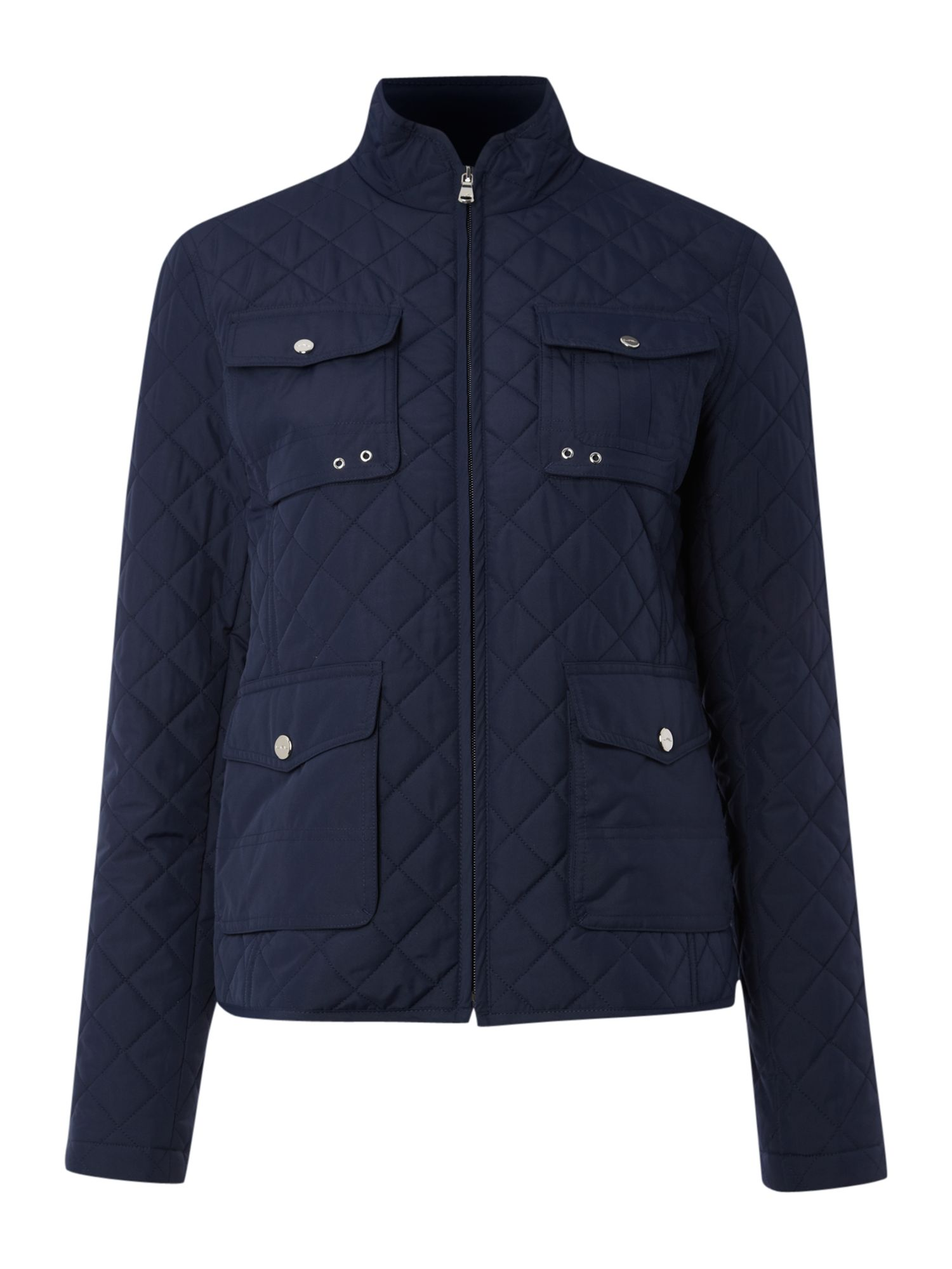 Padded jacket with pocket detail