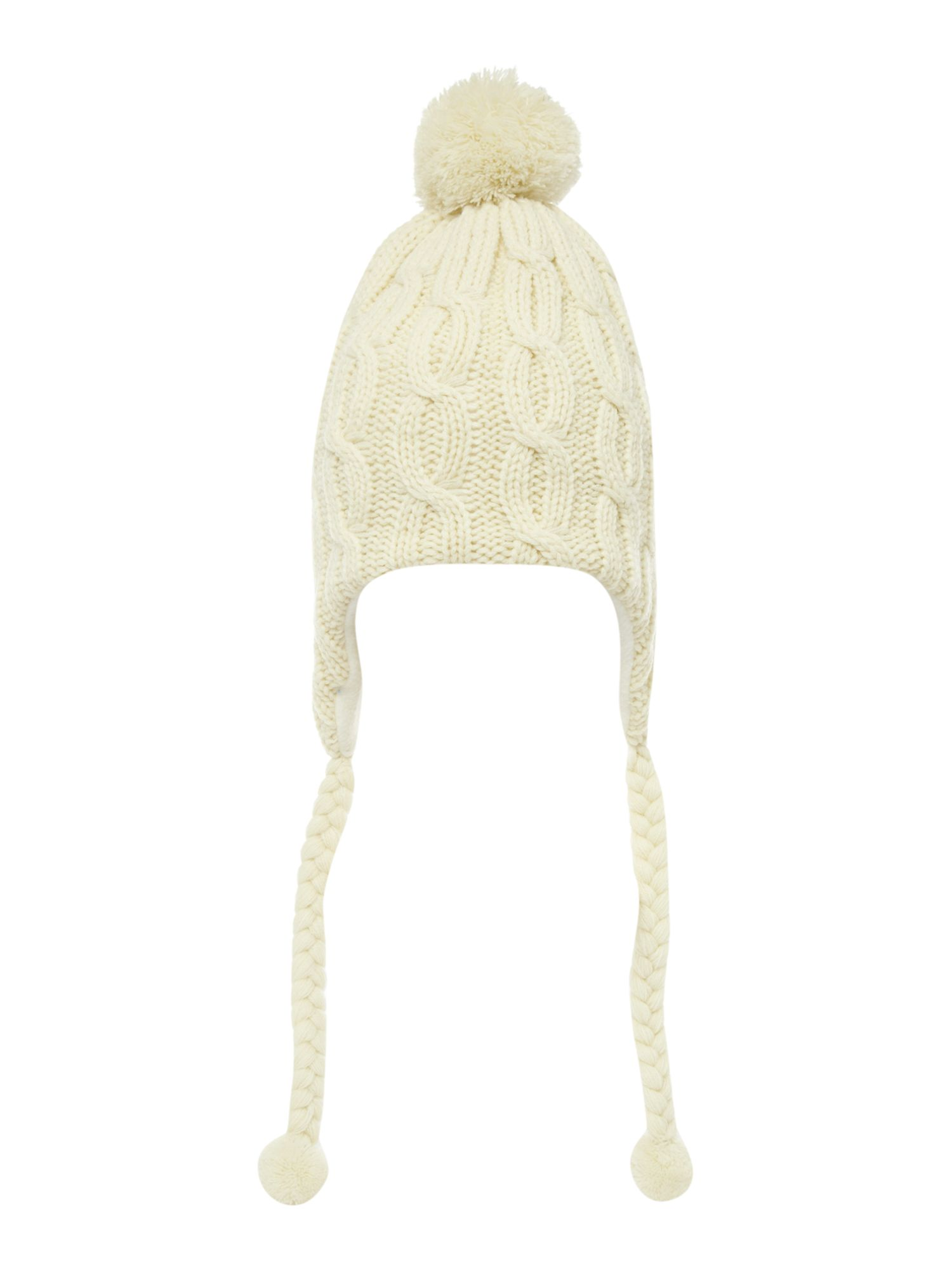 Cable knit headphone hat