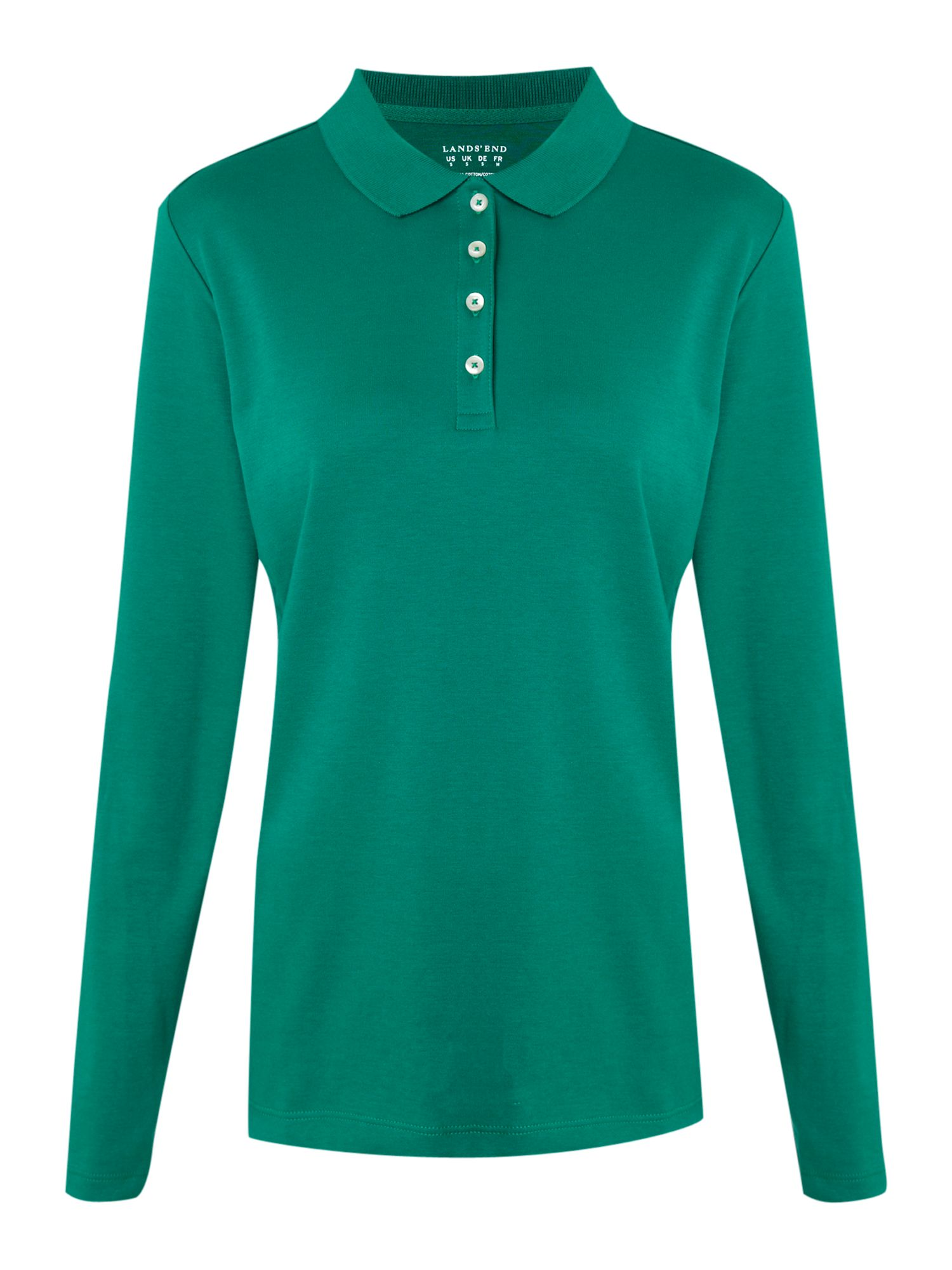 Long sleeve pima polo