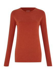 Women`s supima long sleeved crew neck tee