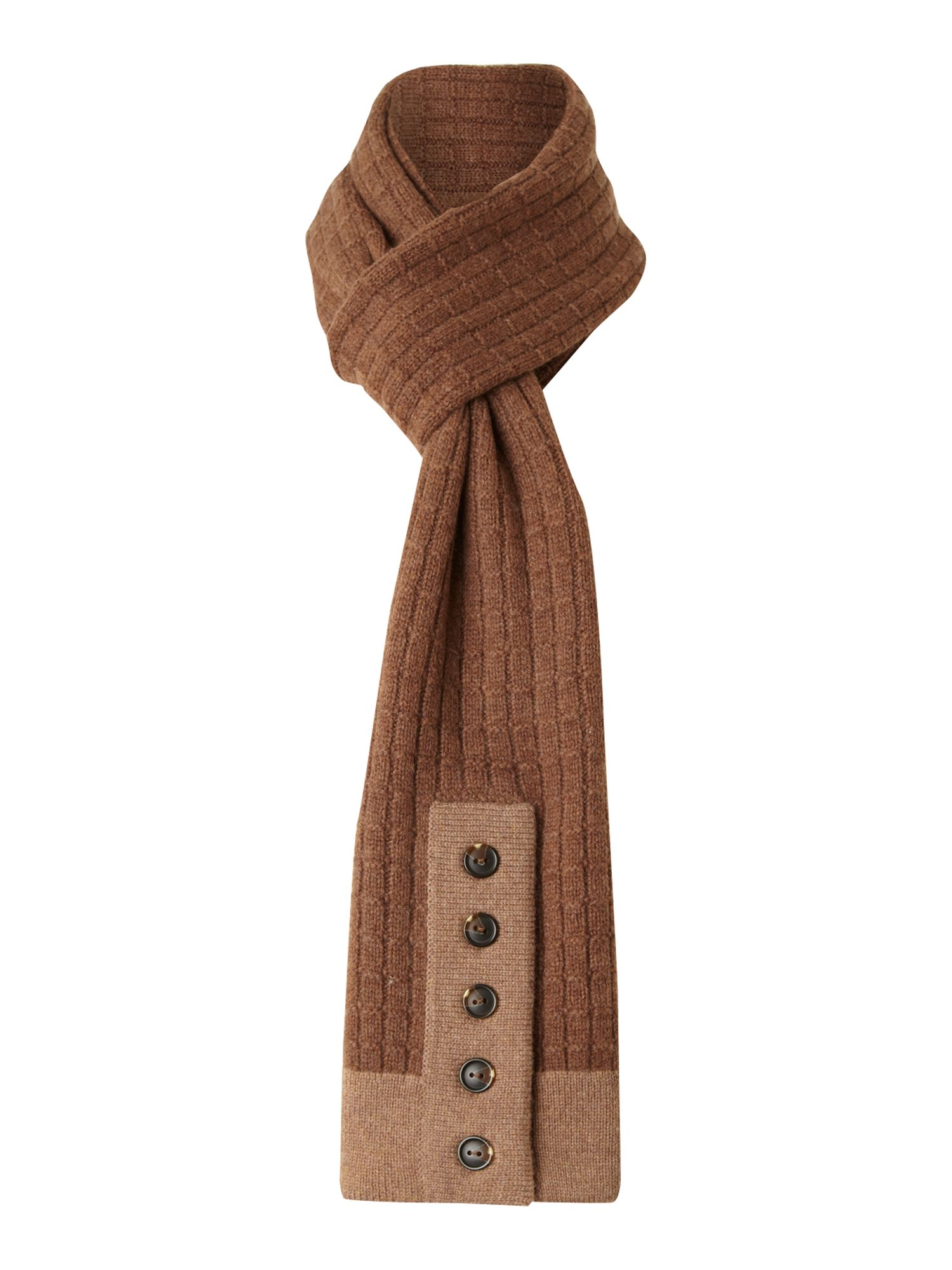 Womens` merino wool tipped scarf