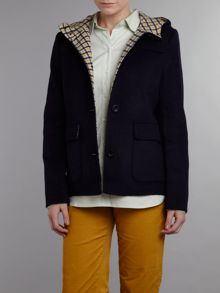 Wool hooded jacket