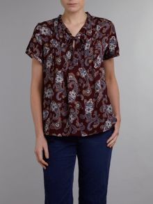 Womens regular georgette bow front blouse