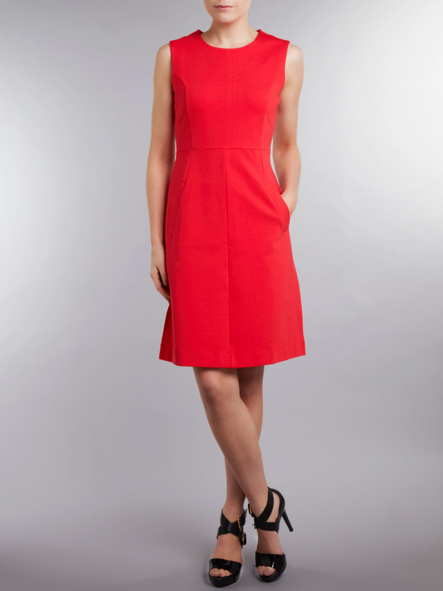 Women`s welt pocket ponte jersey dress