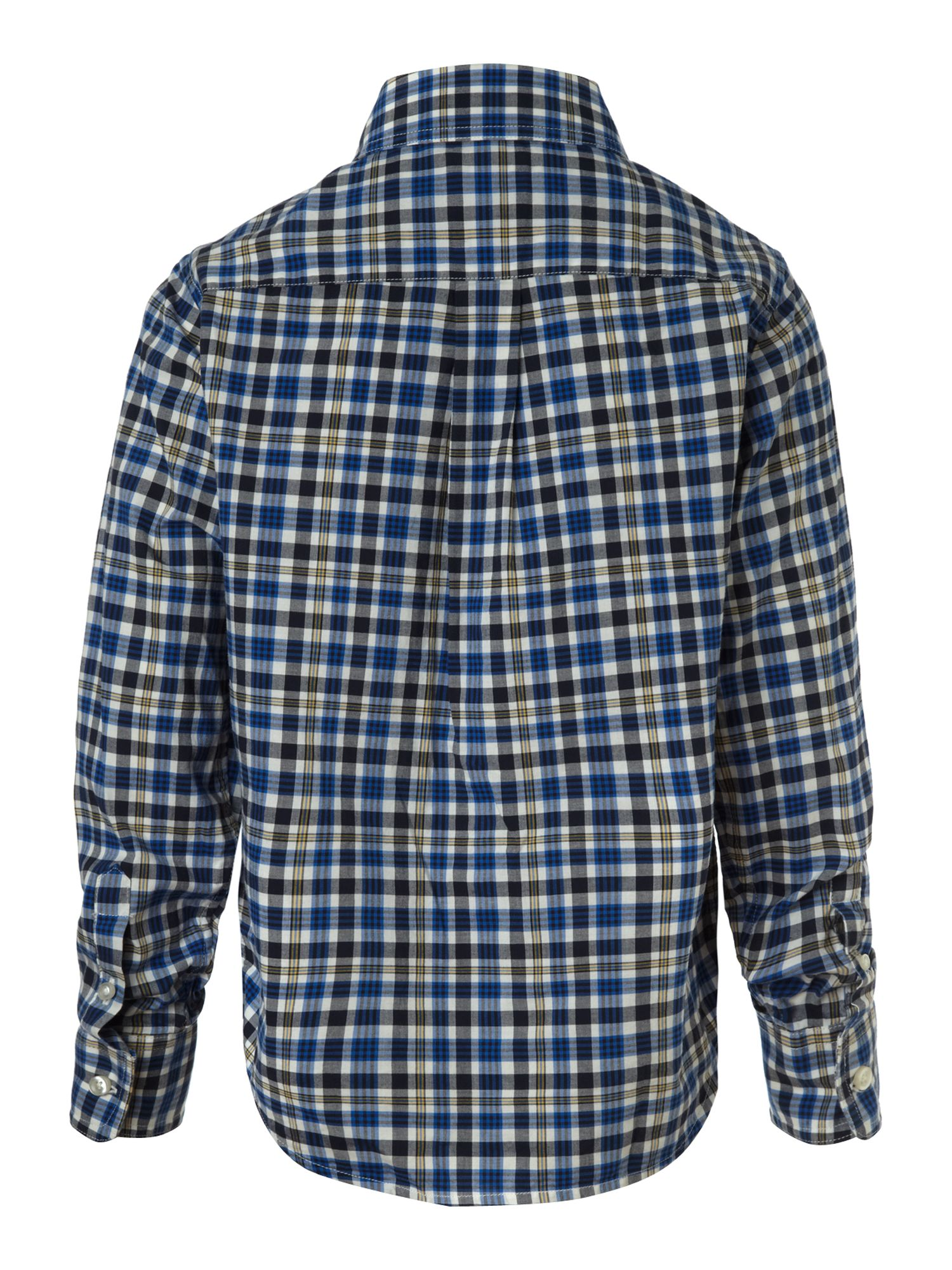 Boy`s long-sleeve plaid poplin shirt