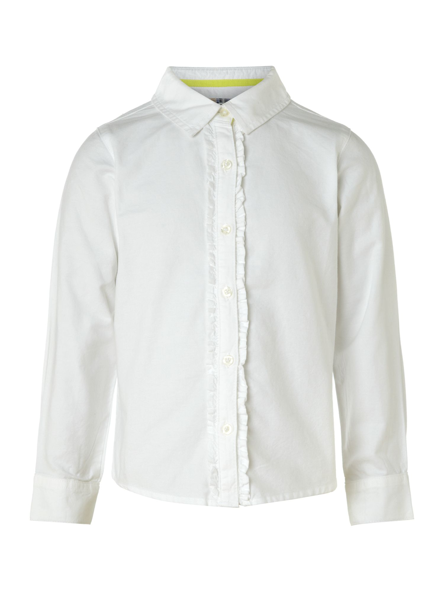 Girl`s ruffle front shirt
