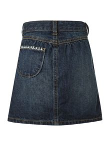 Girl`s denim patchwork skirt