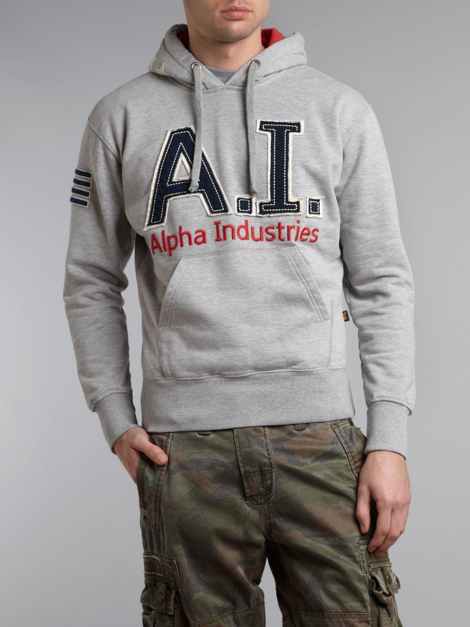 Branded hooded top